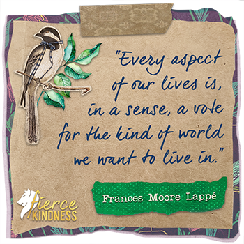 Frances Moore Lappe Quote About our World