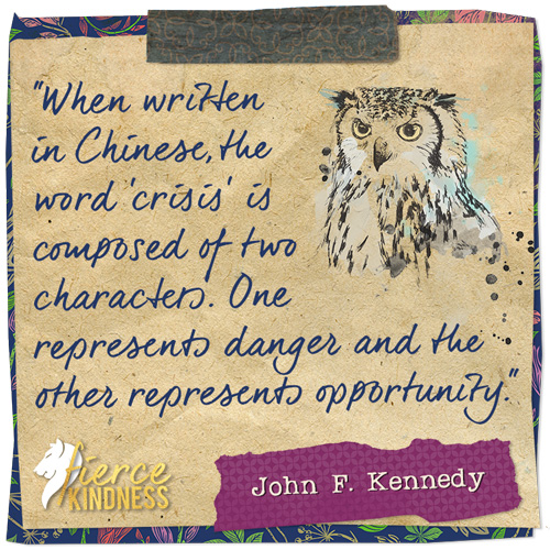 John F Kennedy Quote about Crisis and Opportunity