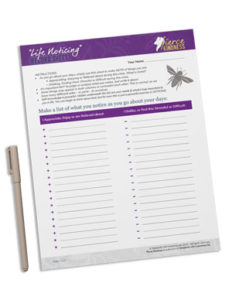 Fierce Kindness Life Noticing Sheet