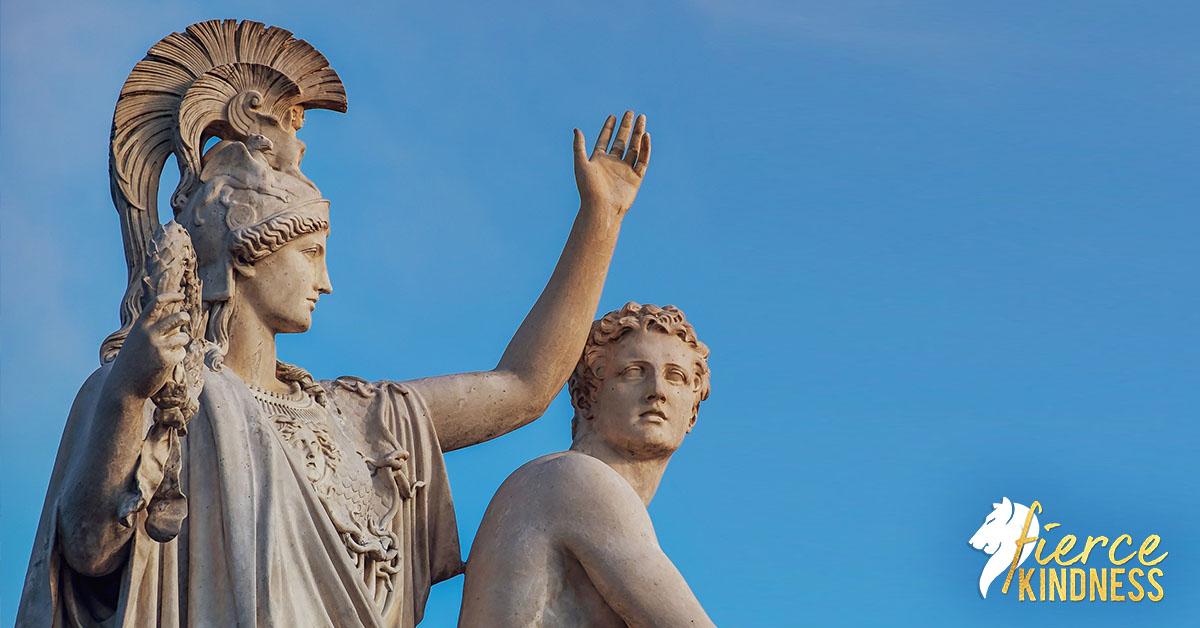 Ancient Philosopher Quotes Speaking against blue sky