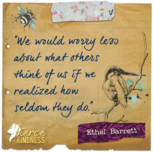Ethel Barrett Worry Quote