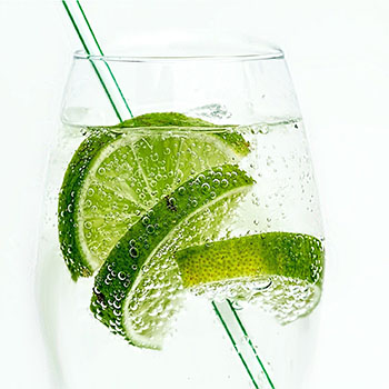 Lime and Straw in glass