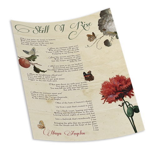 Beautiful Maya Angelou Still I Rose Poem Graphic