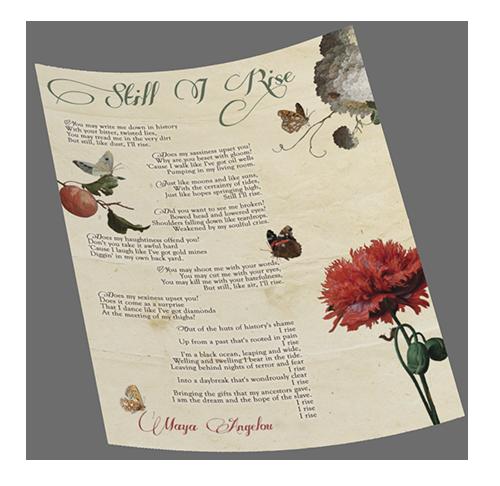 Beautiful Maya Angelou Still I Rose Poem Graphic