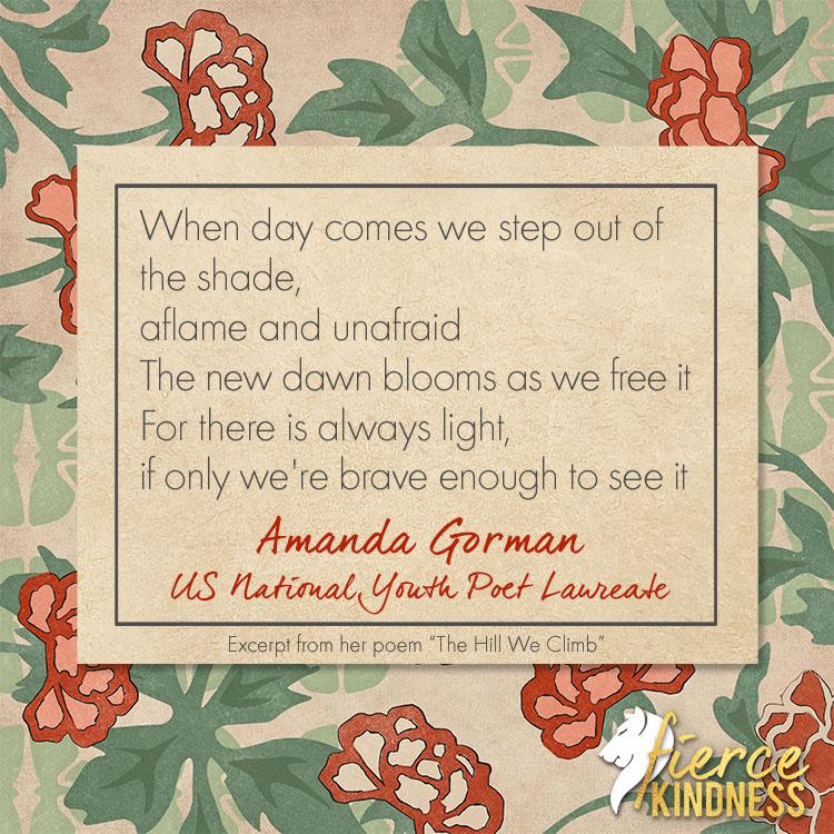 Amanda Gorman Excerpt from Poem The Hill We Climb