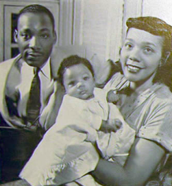 Martin Luther King with Coretta and Yolanda