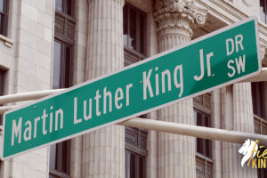 Martin Luther King Quotes shown by Street Sign