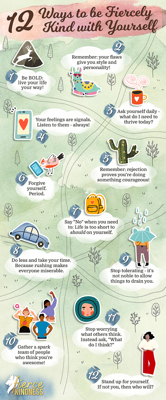 12 Ways to be Fiercely Kind Infographic