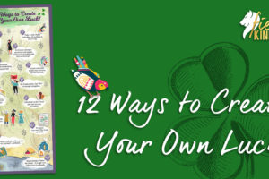 12 Ways to Create Your Own Luck Infographic with Bird Shamrock