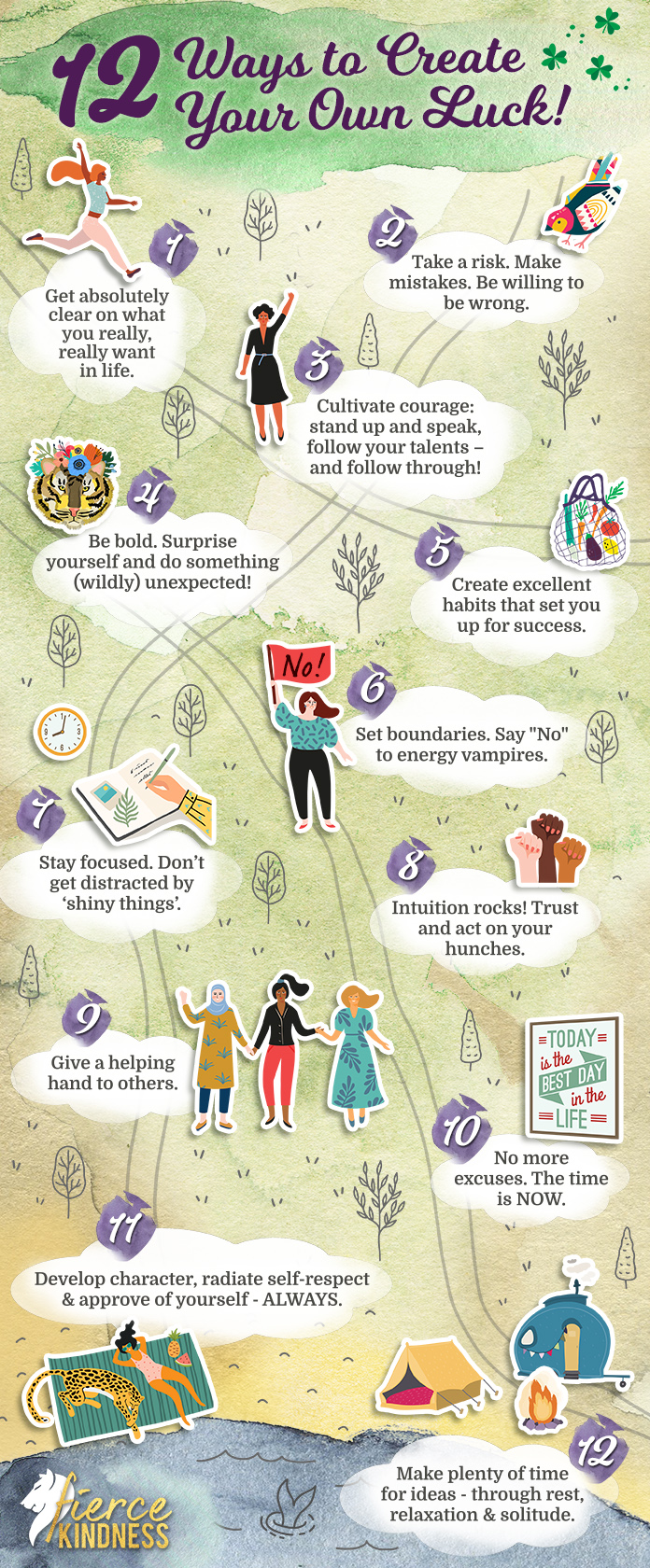 Create Your Own Luck Infographic