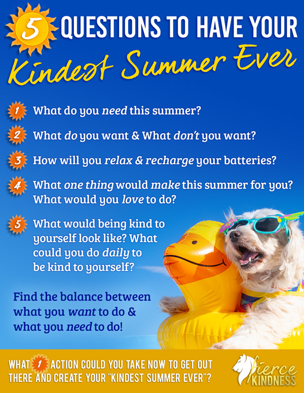 Kindest Summer Ever Infographic with Happy Dog and Blue Sky