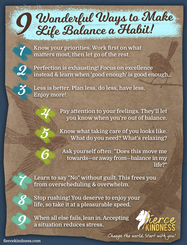 Ways to Make Life Balance a Habit Infographic