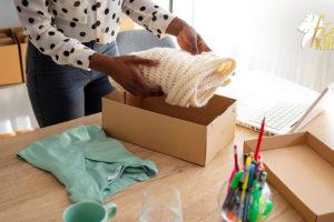 Woman De-Cluttering Her Home